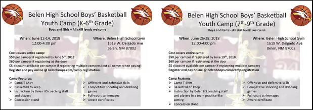 Register For Belen HS Basketball Summer Camps